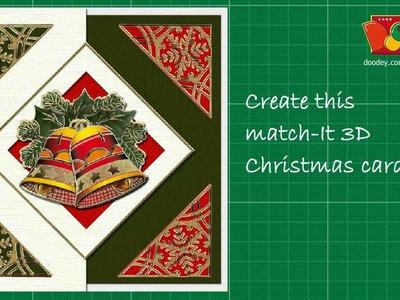 Match It® 3D Christmas card making techniques