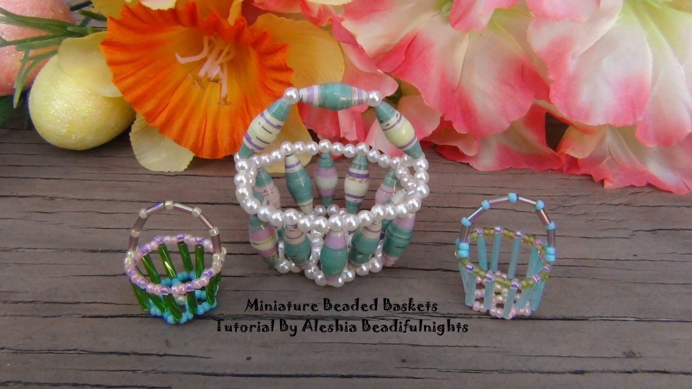 Miniature Beaded Basket Tutorial
