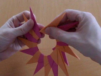 Origami 16 Star, 16-teiliger Stern 3D Anleitung Tutuorial