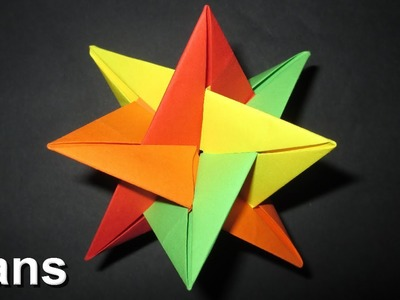 Origami: 3D Star - Christmas Decoration Idea's (Quboxibedron)