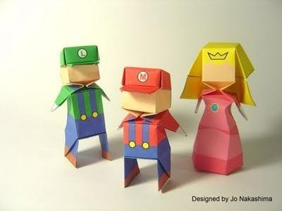 Origami Little Boy - Mario (Jo Nakashima) - 200th Video!!! \o.