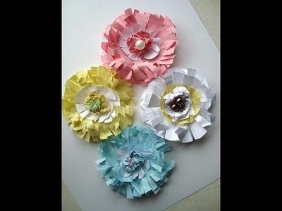 Paper flower, SCRAPBOOKING PAPER FLOWERS