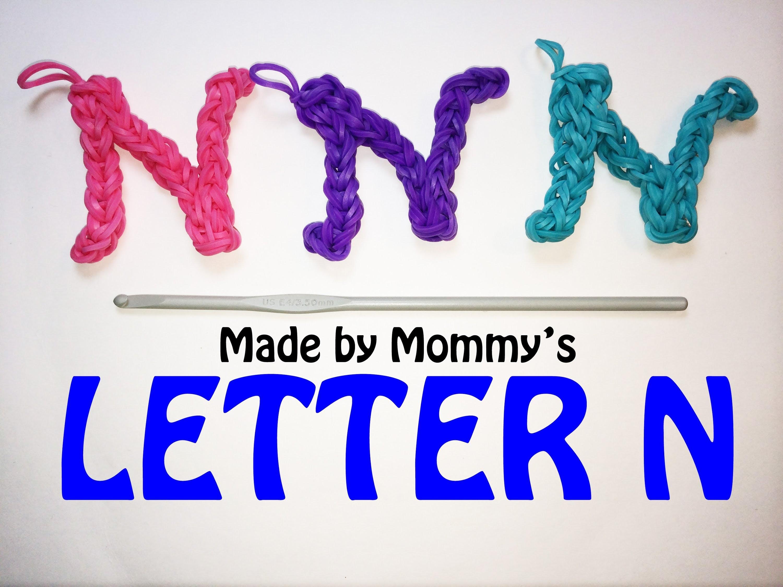 Rainbow Loom Letter N Charm Using Just the Hook