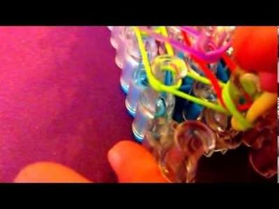 Rainbow loom sunset bracelet