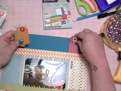 Scrapbooking Process Video from Start to Finish -