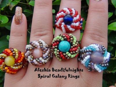 Spiral Galaxy Beaded Ring Tutorial