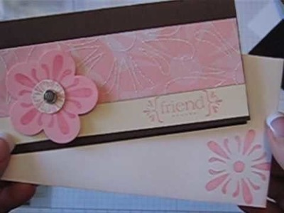 With All My Love Stamp Set Scrapbook Card