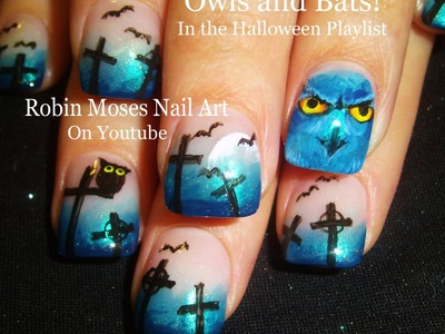 10 Nail Art Tutorials | DIY halloween Nails | Scary Owl Nail Design