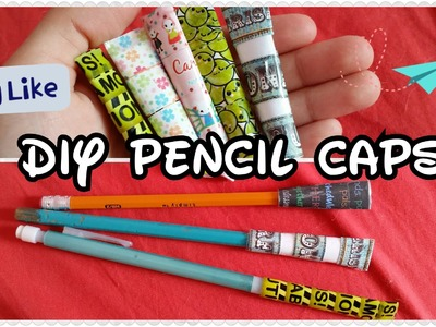Back to school supplies: Paper Pencil Caps DIY!