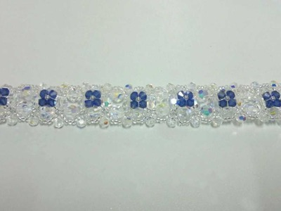 Beading4perfectionists : Victorian Bracelet beading tutorial with Swarovski and miyuki beads