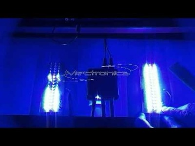 Car Tuning - DIY Subwoofer Blue Led Vu Meter