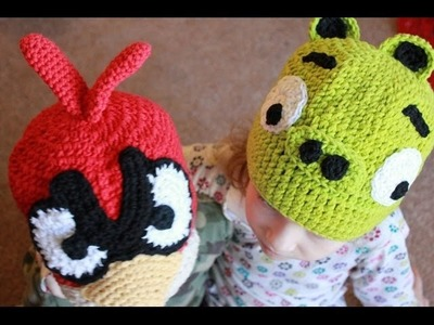 Crochet Angry Bird Pig Beanie - Left Hand Version
