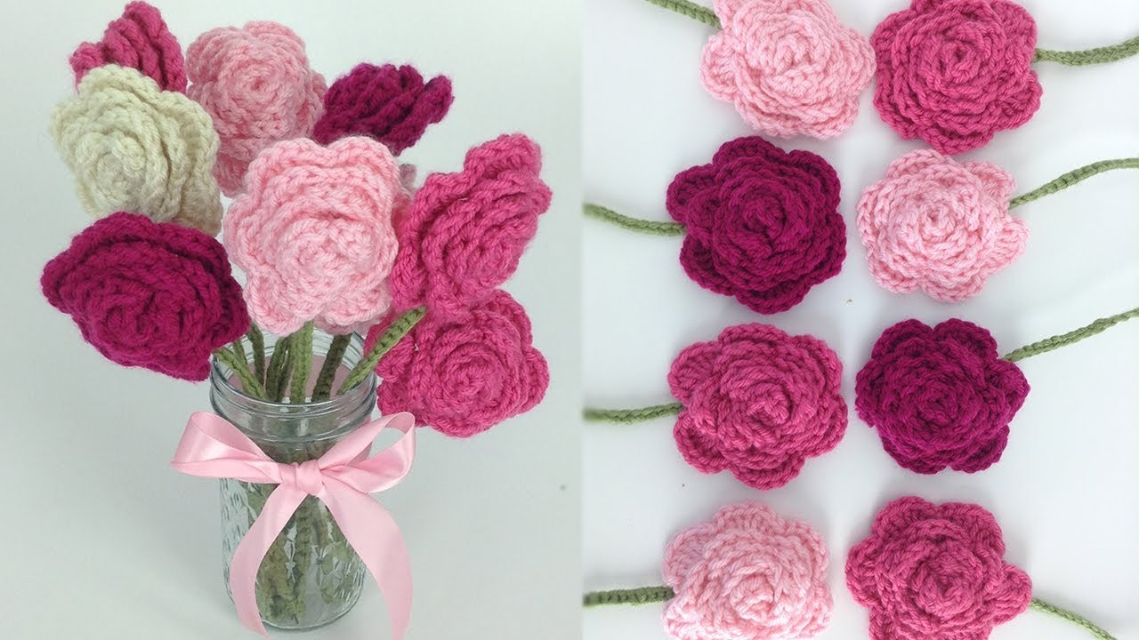 Crochet Rose Bouquet Free Pattern - Right Hand