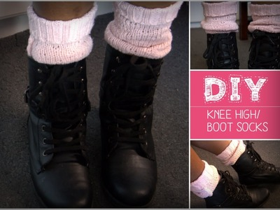 DIY: Boot.Knee High Socks ♡