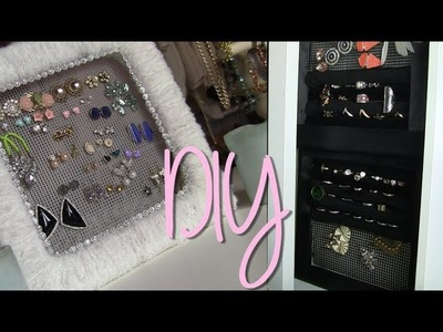 DIY Cute Earring & Ring Holder