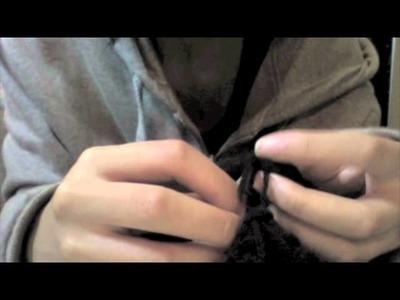 Diy: easy woolen infinity scarf