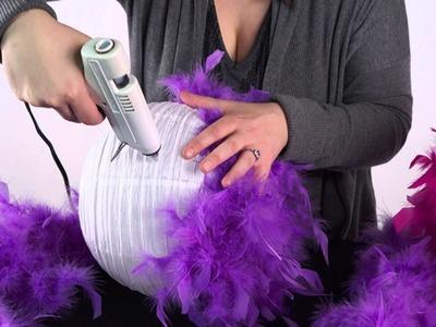 DIY Feather Pom-poms