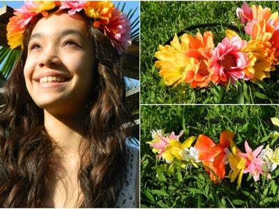 DIY: Hawaiian Colorful Flower Headband