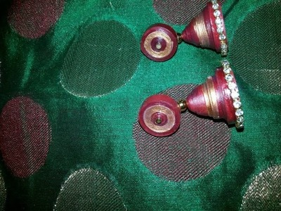 DIY: How to make Quilling Jhumkas.Earrings