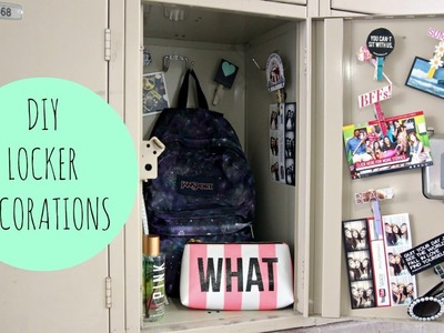 DIY Locker Decorations For Back To School