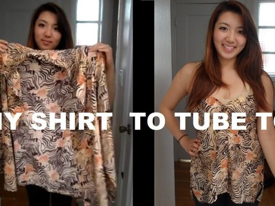 DIY: Long Sleeve Shirts into Tube Top (No Sewing)
