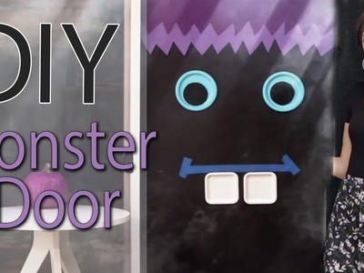 DIY Monster Door for Halloween with Socraftastic! #17NailedIt