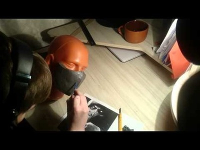 DIY- Mortal Kombat X Scorpion mask (part 1)