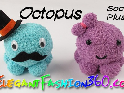 DIY Octopus Kawaii Sock Plushie.Stuffed Animal - How to