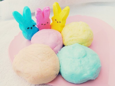 DIY PEEP PLAYDOUGH (marshmallow play doh)