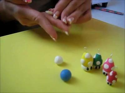 DIY Polymer Clay Mushroom Charm