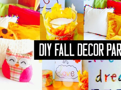 DIY room decor for fall! Spice up your room with no sew pillows, cheap tumblr decorations & more!
