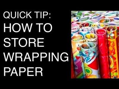 DIY: Storing Wrapping Paper ♡ Theeasydiy #Organization
