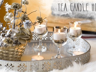 DIY Tea Candle Holder + Decor ideas | Nekkoart