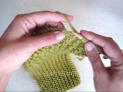 DROPS Knitting Tutorial: How to pick upp stitches