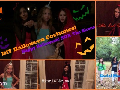Easy DIY Halloween Costumes+Makeup!! 2014