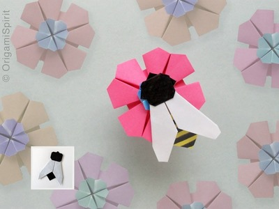 Easy Origami Fly. Bee :: Mosca. Abeja