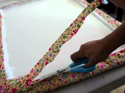 Fabric Bulletin Board DIY