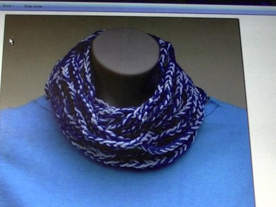 FREE written pattern - Crochet chain scarf