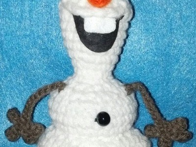 Frozen Inspired Olaf - Like Crochet Snowman FEET Tutorial