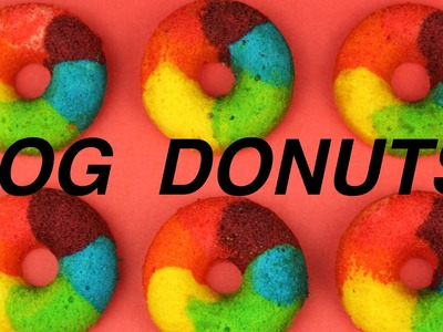GORGEOUS RAINBOW DOGGIE DONUTS - DIY Dog Food by Cooking For Dogs