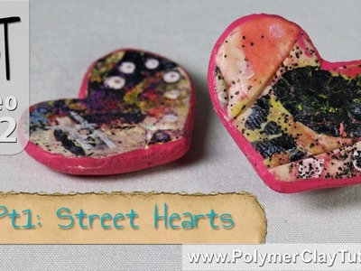Graffitti Heart Beads Polymer Clay Tutorial (Intro)