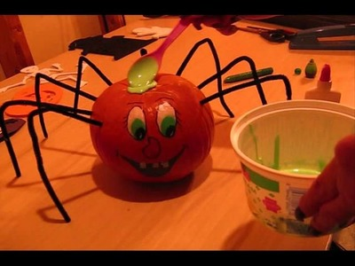 Halloween Spider Pumpkin Craft!