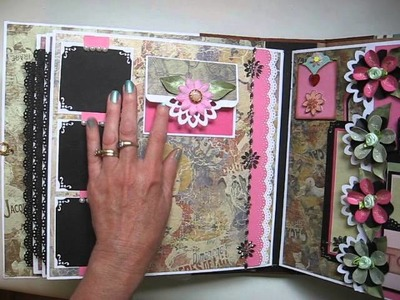 Handmade  Large (not mini) 11x11 Scrapbook Album (Tutorial Available)
