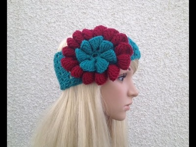 How to Crochet Earwarmers. Headband Pattern #14 │by ThePatterfamily