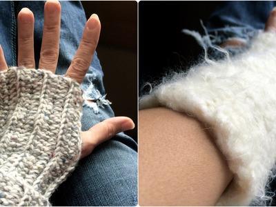 How to Crochet Seamed Fingerless Gloves: Beginner Project