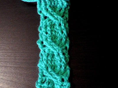 How to crochet the cable stitch for lefthanded