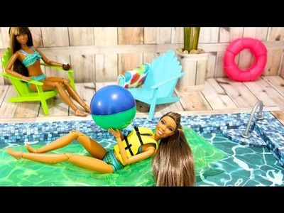 How to Make a Doll Swimming Pool - Doll Crafts