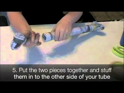 How to Make a Femur With Newspaper and Tape!
