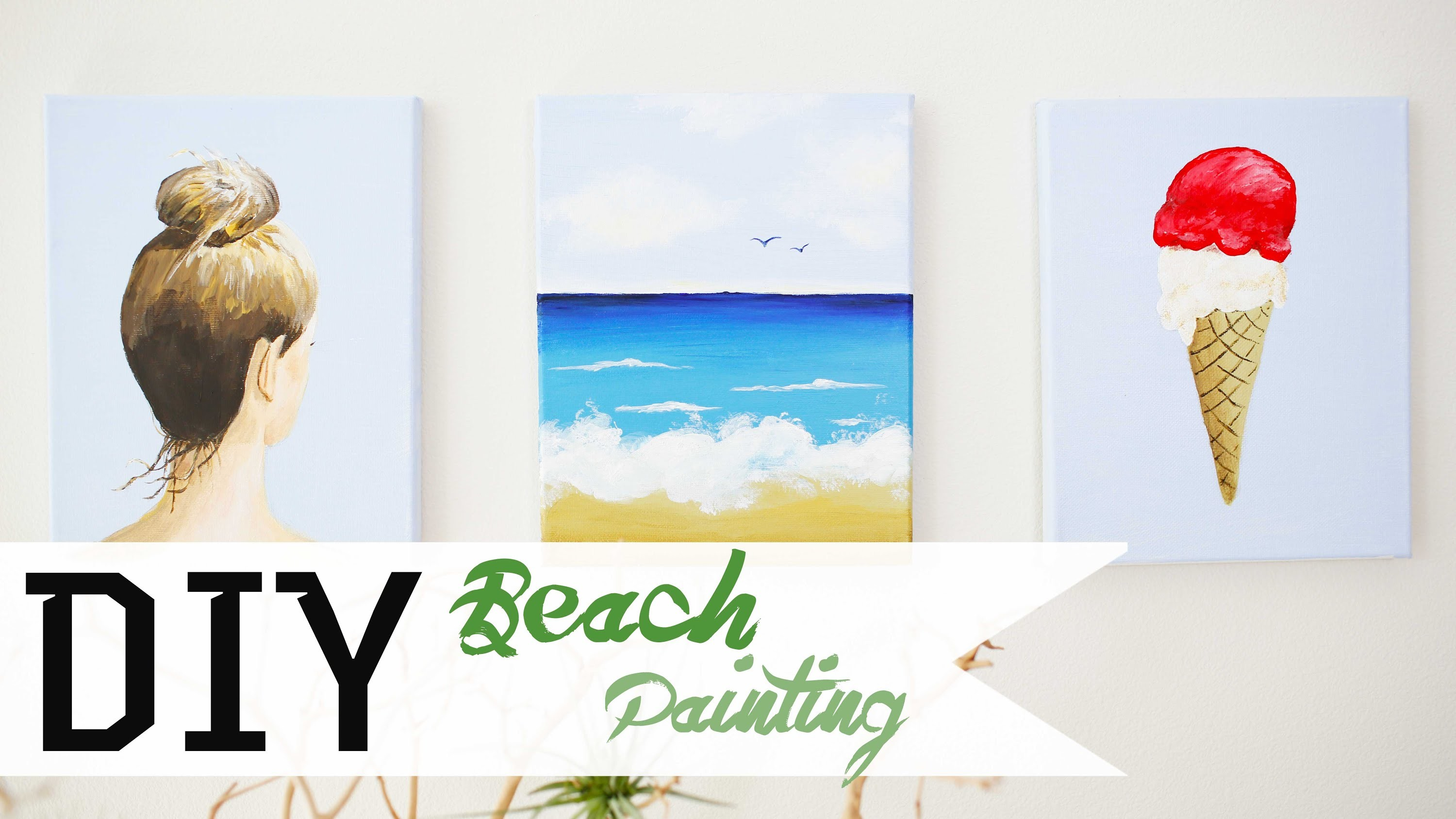 How To Paint A Beach Scene DIY 1.3 | ANNEORSHINE
