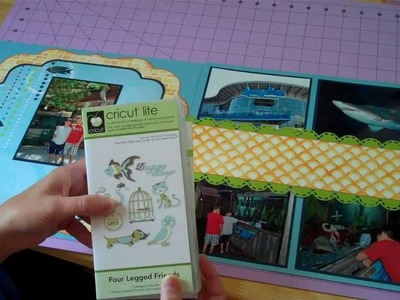 Just Keep Swimming Cricut Double Page Scrapbook Layout